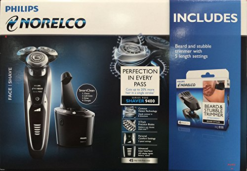 Philips Norelco Shaver 9400 with Smartclean 9000 Series + Be