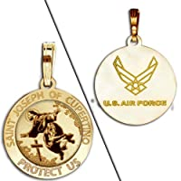 Saint Joseph of Cupertino Doubledside AIR FORCE Religious Medal from PicturesOnGold.com