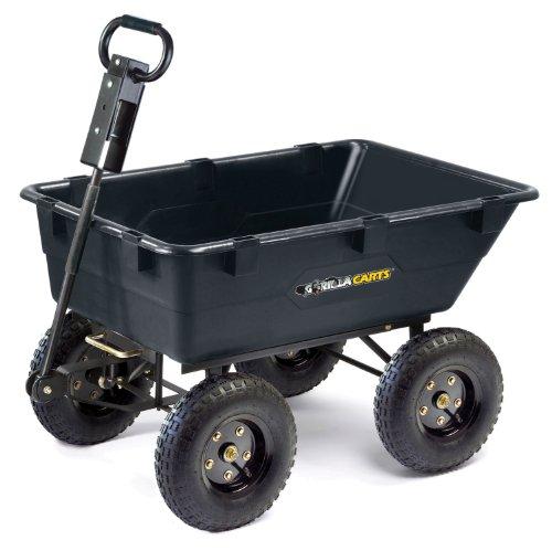 Tricam GOR865D11-1 Gorilla Carts 1200-Pound Capacity Heavy Duty Poly Dump Cart