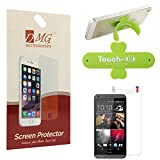 DMG Pack Of 10 Matte Screen Protector For Micromax Canvas Nitro A310 + Touch U Mobile Stand