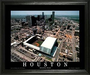 Houston Astros - Minute Maid Park Aerial - Lg - Framed Poster Print by Laminated Visuals