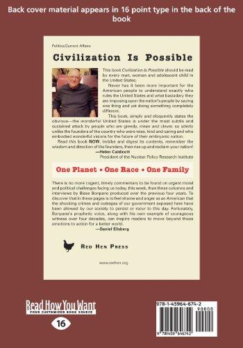 Civilization Is Possible (Large Print 16pt)