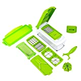 Smiles Creation TM Quality Product 12 Pcs Set Best Nicer Dicer Kitchen Tools For Vegitable And Fruits Cutter....
