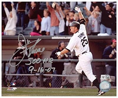 "Jim Thome Chicago White Sox 500th HR Autographed 8"" x 10"" Arm In Air Photograph with 500 HR 9-16-07 Inscription - Fanatics Authentic Certified"