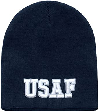 Classic Military Short Work Beanie Ski Cap by Rapid Dominance (USAF Text)
