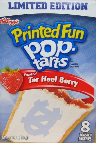 Frosted Pop Tarts Limited Edition Tar Heel Berry Strawberry Printed Fun