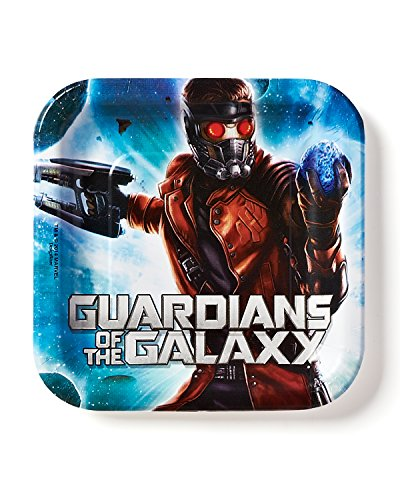 """American Greetings Guardians of the Galaxy 7"""" Square Plate, 8 Count, Party Supplies Novelty"""