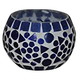 HND00652 Indian Designer Handmade Glass Diya Candle Holder