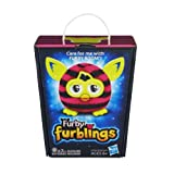 Stripes Furby Furblings Black and Pink Plush Figure