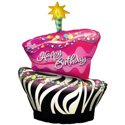 Funky Zebra Birthday Cake 41
