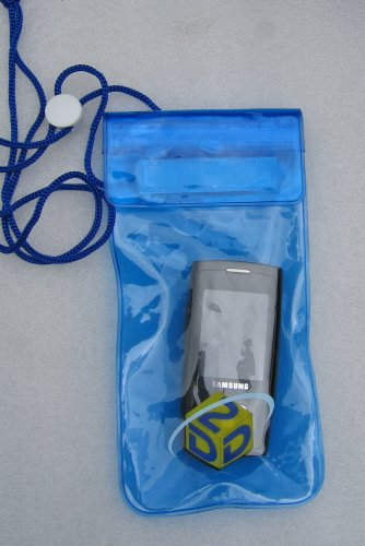 Blue Waterproof Pouch / Bag for Mobiles iPOD Cameras