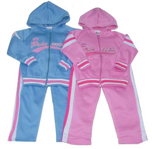 "Buy Little Girls' ""Princess"" Fleece Oufit with Hoodie"