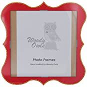 Woody Owls Wooden Photo Frame (46 Cm X 1 Cm X 46 Cm, Red)