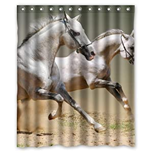 horse shower curtain 60 x 72 inch bathroom