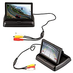 E-best 4.3 Foldable TFT Color LCD Car Reverse Rearview Monitor Screen 16 9 4.3inch Foldable Vehicle TFT Color LCD Screen Display Rearview Monitor for Parking Camera VCR DVD VCD