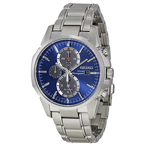 Seiko Men's SSC085 Classic Solar Stainless Steel Watch