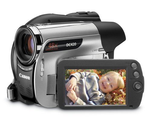 51sU7qHsqHL Canon DC420 DVD Camcorder w/48x Advanced Zoom   2009 MODEL