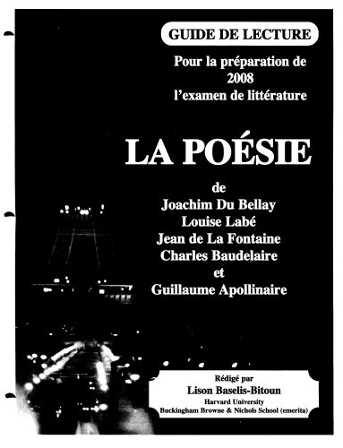 la-poesie-guide-de-lecture-pour-la-preparation-de-2004-lexamen-de-litterature