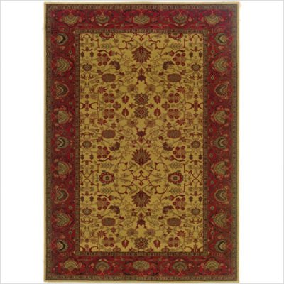 """3'11"""" x 5'3"""" Area Rug Classic Persian Pattern in Gold Camel"""