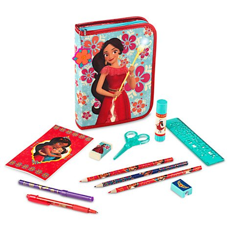 Disney Store Princess Elena Of Avalor Zip-Up Stationery Kit