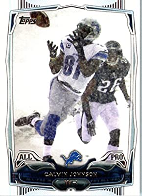 2014 Topps NFL Football Card #201 Calvin Johnson Detroit Lions All Pro
