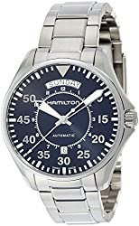 Hamilton Men's 'Khaki Aviation' Swiss Automatic Stainless Steel Dress Watch (Model: H64615135)