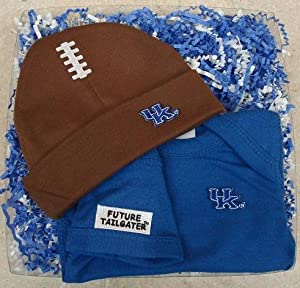Kentucky Wildcats Baby Onesie and Football Cap Gift Set by Future Tailgater