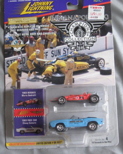 Johnny Lightning Indianapolis 500 Champions Collection 1969 Mario Andretti Chevy Camaro Pace Car