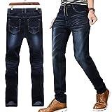 (ベルク)VELUC メンズ パンツ デニム ジーンズ ジーパン ズボン 大きいサイズ ビックサイズ 3XL 4XL 5XL 6XL ウルトラ ウエストゴム ストレート レッグ ブラック ブルー (ブラック5XL)