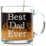 Best Dad Ever Glass Coffee Mug 13 oz - Great Christmas Gifts for a Father...