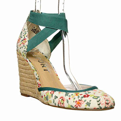 Floral Wedge Sandals back-549921