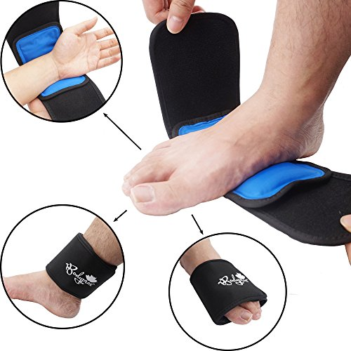 Cold & Hot Therapy Wrap by Bodyprox- Reusable Gel Pack for Pain Relief: Great for Sprains, Muscle Pain, Bruises, Injuries, Etc. (Foot, Arm, Elbow, Ankle). (Hot And Cold Gel Pack compare prices)