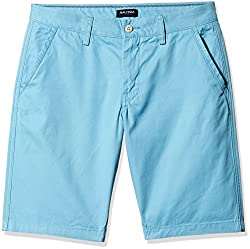 Nautica Men's Cotton Shorts (8907163941619_NTB4400044D_34_Delphium Blue)