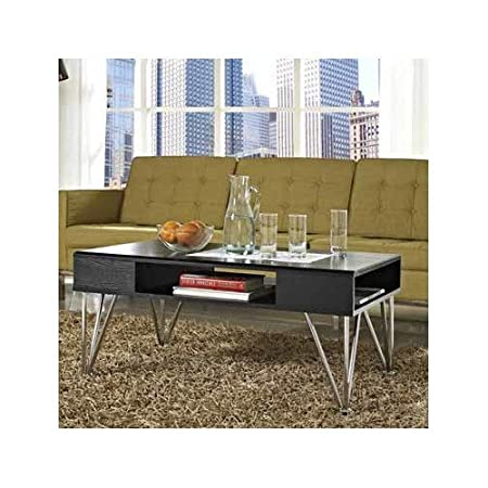 "Black Coffee Table 17.1"" H x 39"" W x 23.62"" D - target convenience concepts square"