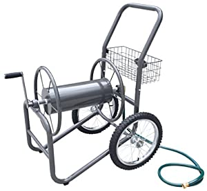 Liberty Garden Products 880-2 Industrial 2 Wheel Solid Garden Hose Reel Cart - Gray