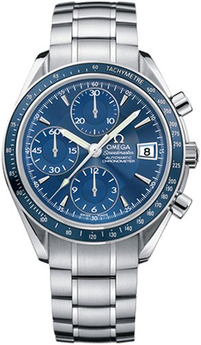 Buy Omega Men's Speedmaster Blue Dial Chronograph Watch #3212.80