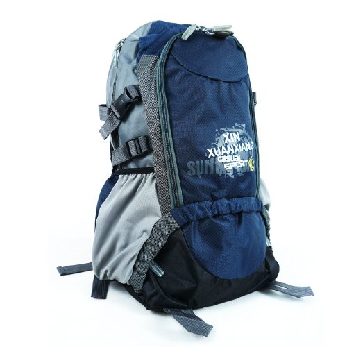 Outdoor Ultralight Internal Frame Hiking Cycling Camping Gear Travel Bags Montaineers Backpack Blue front-258701