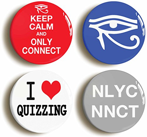 4-x-only-connect-badge-button-pins-size-1inch-25mm-diameter-quiz-eye-of-horus