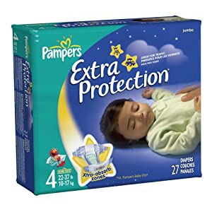 Pampers Extra Protection Size 4 Diapers Jumbo Pack 27 Count (pack of 4)