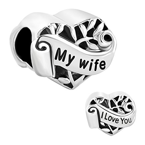 christmas-gifts-silver-plated-heart-i-love-you-my-wife-charm-new-sale-cheap-beads-fit-pandora-jewelr