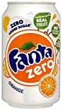 Fanta Zero Orange Soft Drink Can 330 Ml (pack Of 24)