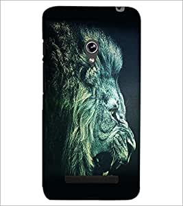 PrintDhaba Lion Roar D-1154 Back Case Cover for ASUS ZENFONE 5 A501CG (Multi-Coloured)