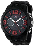 U.S. Polo Assn. Sport Mens US9117  Black Silicone Analog Digital Watch