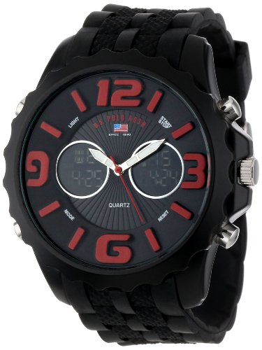 U.S. Polo Assn. Sport Men's US9117  Black Silicone