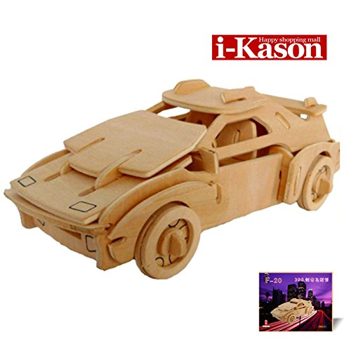 Authentic High Quality i-Kason® New Favorable Imaginative DIY 3D Simulation Model Wooden Puzzle Kit for Children and Adults Artistic Wooden Toys for Children - Ferrari F20