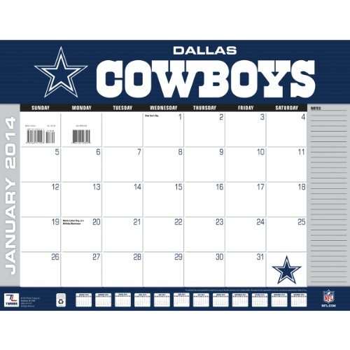 Turner - Perfect Timing 2014 Dallas Cowboys Desk Calendar, 22 x 17 Inches (8061348) at Amazon.com