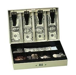 PM Company SecurIT Combination Cash Lock Box, 11.5 x 7.75 x 3.25 Inches, Beige, 1 per Box (04961)