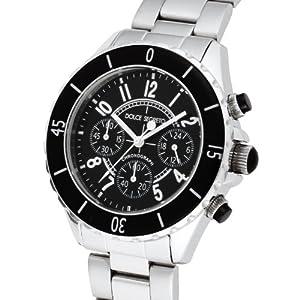 [ドルチェセグレート]DOLCE SEGRETO 腕時計 ブラック文字盤 クロノグラフ CH100BK メンズ