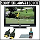 Sony Bravia V-Series KDL-40V4150 40-inch 1080P LCD HDTV and Accessory Outfit Outfit with Flat Screen