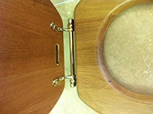 Heritage Oak Toilet Seat With Gold Hinges Foa100 Amazon
